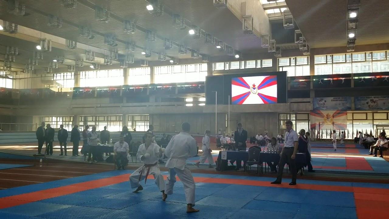 First all-style karate world championship.Якутин Константин, второй круг, двоеборье.