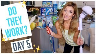 TESTING WEIRD CLEANING PRODUCTS✨🤪 | TRY THEM OUT +  CLEAN W/ ME | CLEAN WEEK DAY 5 | Brianna K