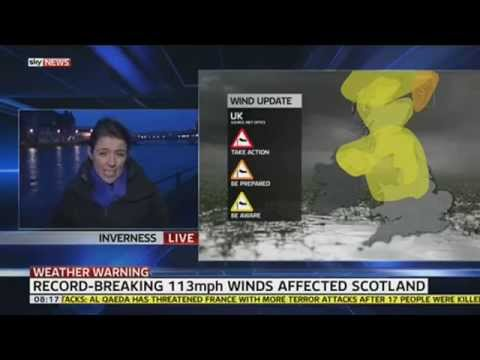Hurricane-Force Winds Batter Parts Of UK