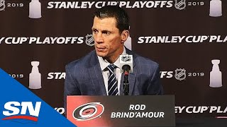 Rod Brind'Amour Speaks After Hurricanes Are Swept Out Of Playoffs