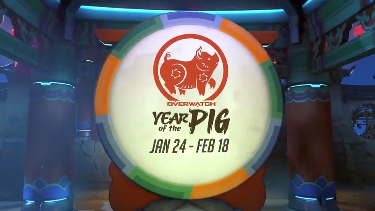 All Year Of The Pig Skins Chinese New Year 2019 Overwatch Youtube
