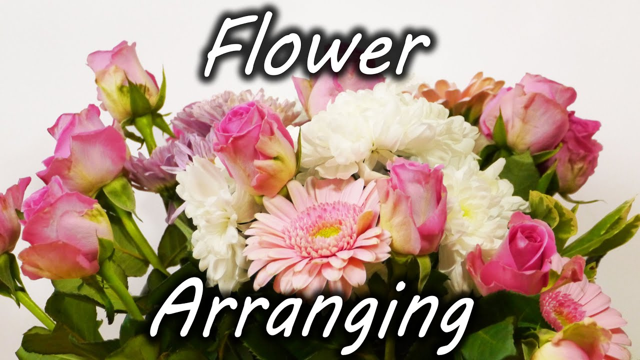 Flower Arrangement Pictures Awesome Flower Arranging Trick  Youtube Decorating Design