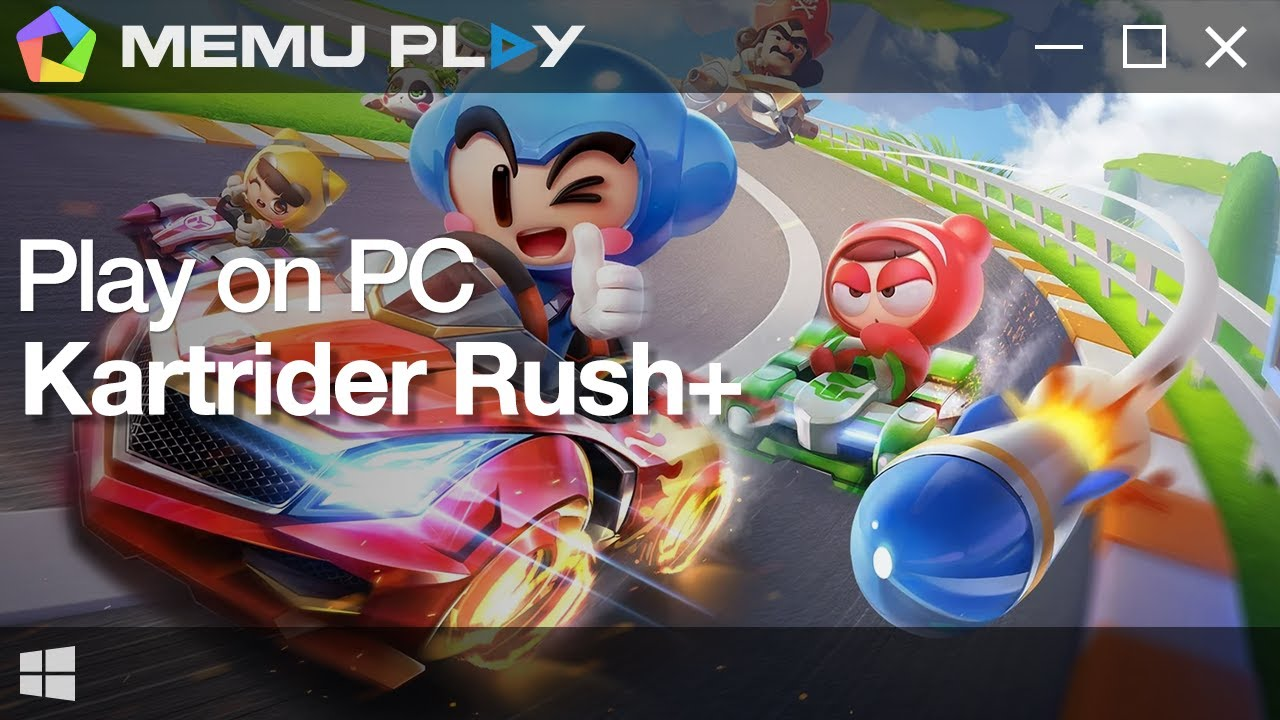 Download and Play Kartrider rush+ on PC with MEmu