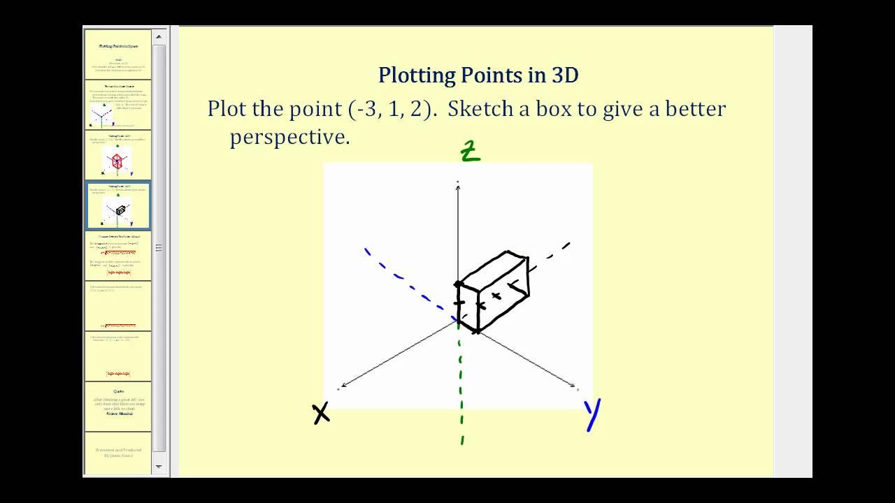 Plotting points in 3d youtube for 3d plot online