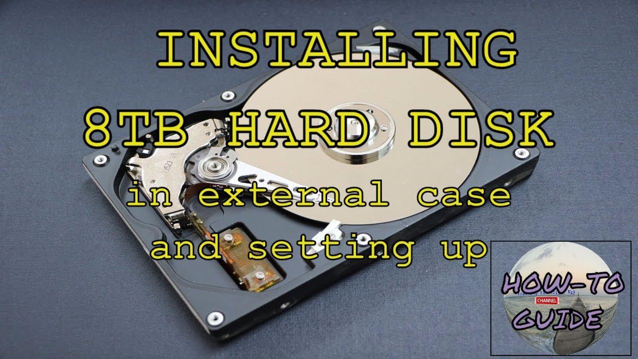 How to setup SATA 3 and USB 8TB external hard drive Orico/Seagate