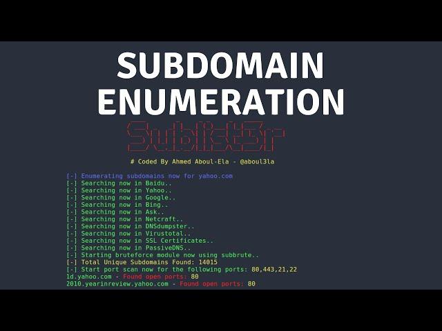 Passive Recon - Subdomain Enumeration With Sublist3r