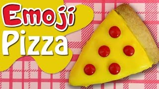 PIZZA EMOJI COOKIES Fun Kids Baking - bake kawaii biscuits with charliscraftykitchen