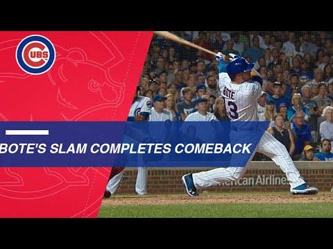 David Bote hits a walk-off grand slam to lift Cubs past Nats