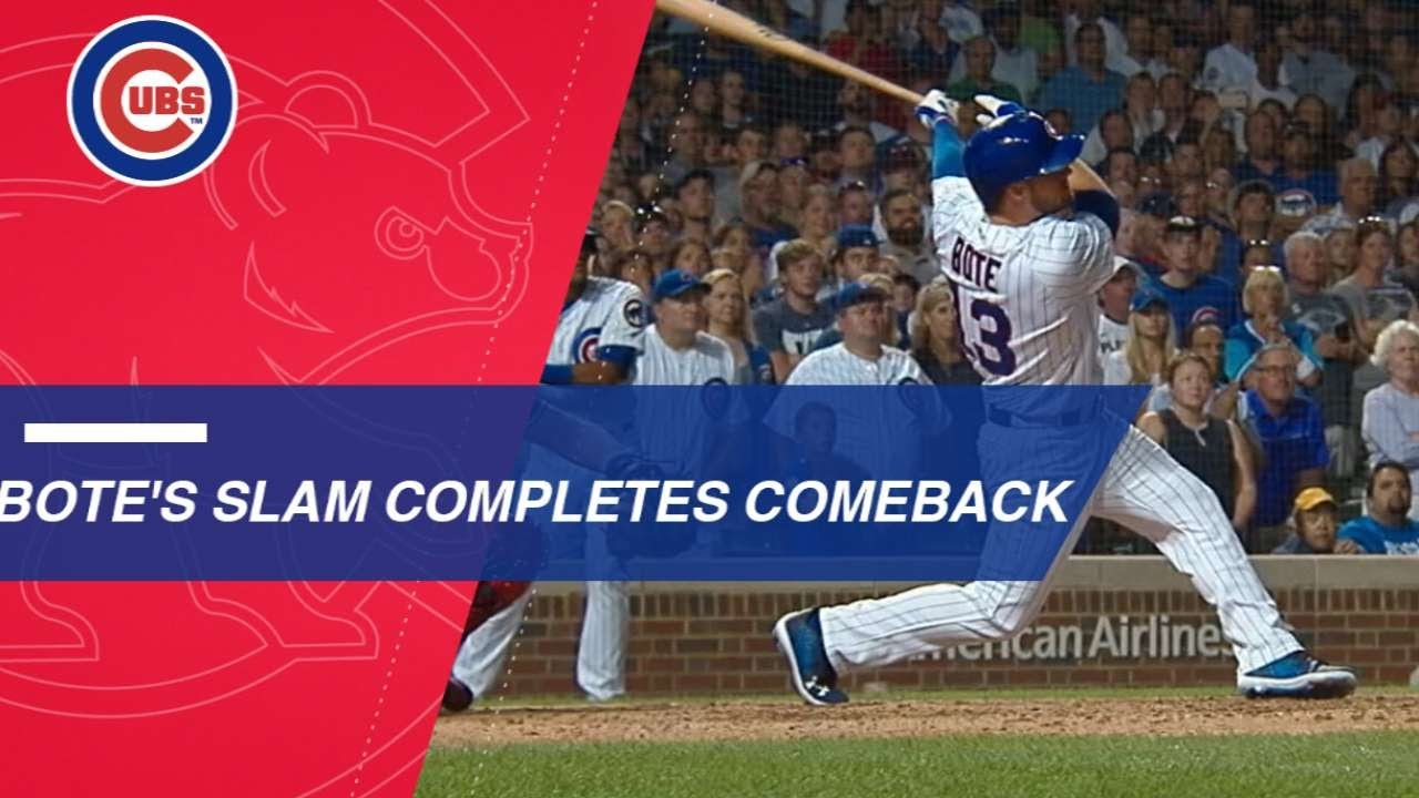 Cubs' David Bote's kind of walkoff grand slam hasn't been done since the 1996 ...