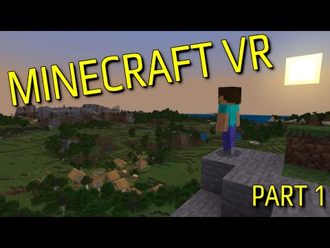 Minecraft VR Gameplay Part 1 | How To Play Minecraft??? | PSVR Preview