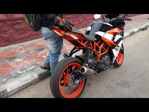 2018 KTM RC 390 with SC project CRT Installation