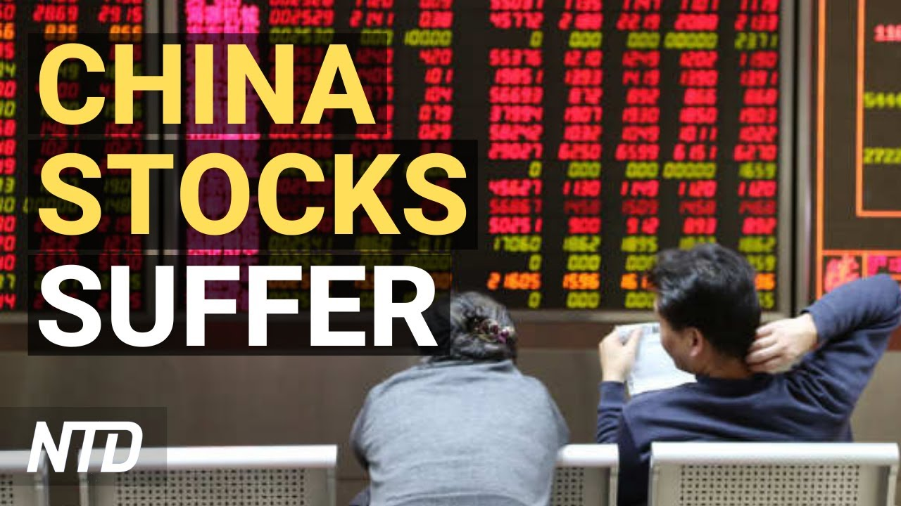 China Stocks Suffer Amid CCP Regime Crackdown; Tesla Profits From Cars for First Time   NTD Business
