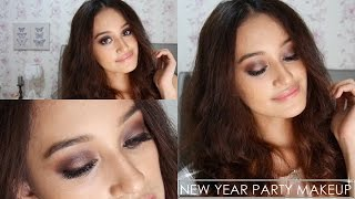 New Year Party Makeup : Purple & Rose-Gold toned Smokey Eyes | Nadya Aqilla | Indonesia