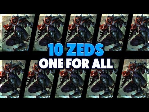 10 ZED ULTS IN 5 SECONDS (SO MANY SHADOWS) | ZED VS ZED OFA FULL GAMEPLAY - BunnyFuFuu