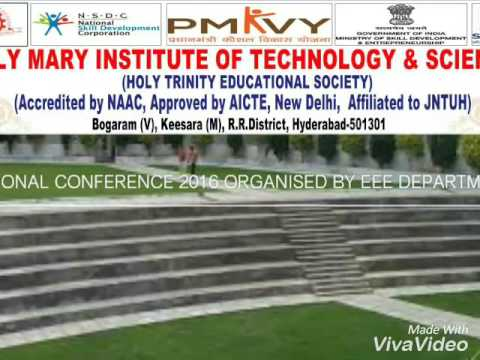 NATIONAL CONFERENCE ORGANISED BY EEE DEPARTMENT OF HOLY MARY INSTITUTE OF TECHNOLOGY AND SCIENCE