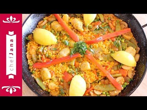 Authentic vegetable Spanish paella⎜Vegan