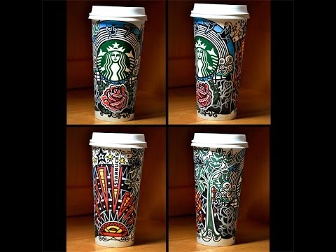 Starbucks White Cup Art Contest - Heather Rooney