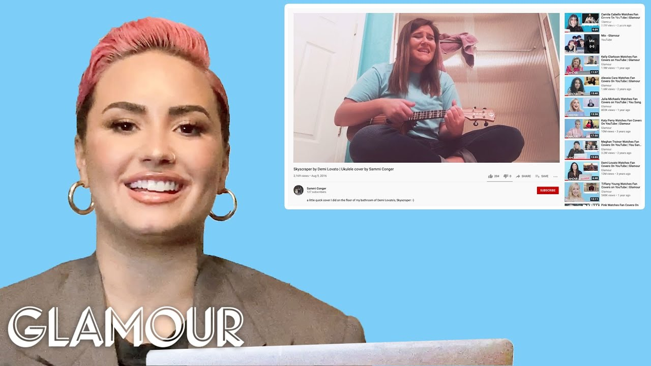 Demi Lovato Watches Fan Covers on YouTube and TikTok | Glamour