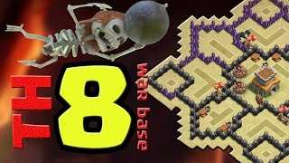TH8 WAR BASE |JONASGGN| CV8 LAYOUT DE GUERRA - CLASH OF CLANS