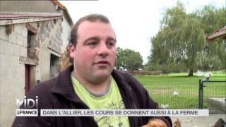 ANIMAUX : Dans l'Allier, les cours se donnent aussi à la ferme