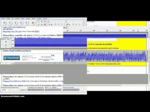 Pasar Audacity a MP3