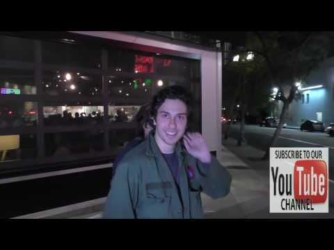 Nat Wolff talks about his career outside ArcLight Theatre in Hollywood