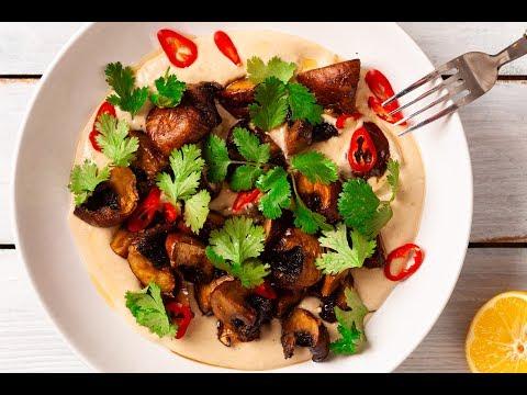 Mushroom With Tahini Sauce | Vegetarian Recipe |