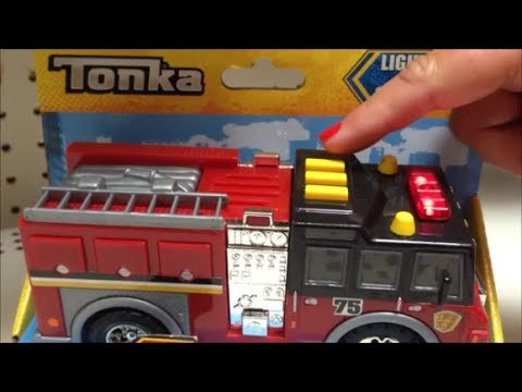 Tonka Mini Usa Fire Engine Truck Toy Youtube