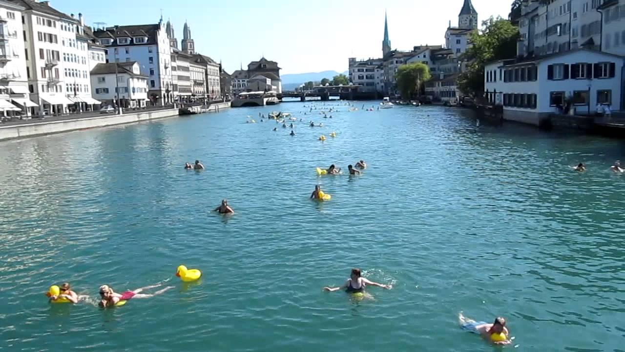 Swimming in the Limmat, Letten Zurich