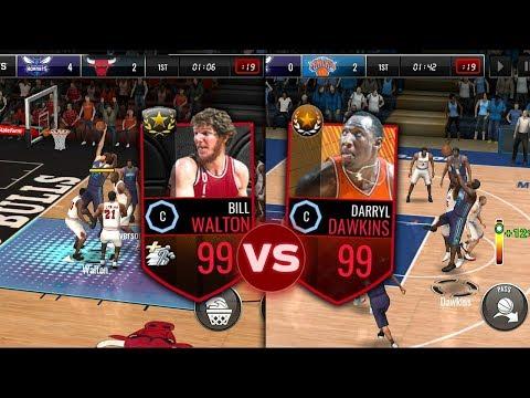 99 BILL WALTON BIG MAN BATTLE VS 99 DAWKINS IN NBA LIVE MOBILE!!