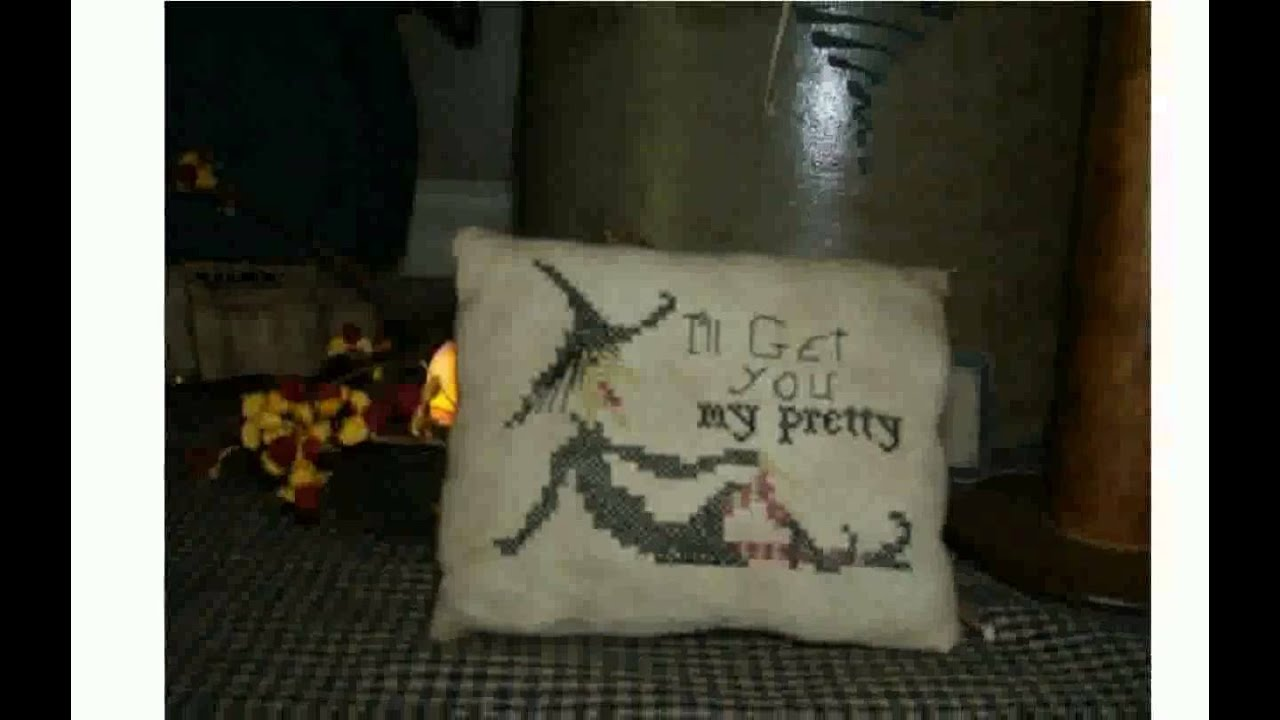 primitive halloween decor youtube