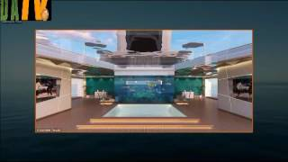 Shaddai superyacht concept features an elevated master cabin infinity pool 125ft above the water