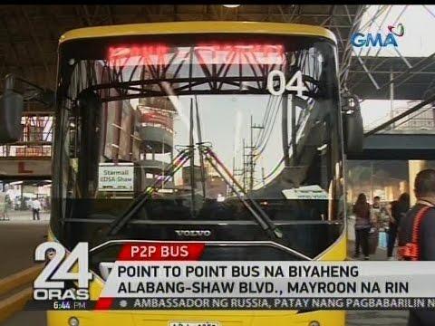 24 Oras: Point to point bus na biyaheng Alabang-Shaw Blvd., mayroon na rin