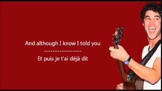Darren Criss - I don't mind / Paroles & Traduction