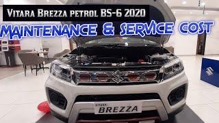 Vitara Brezza petrol service cost & maintenance schedule
