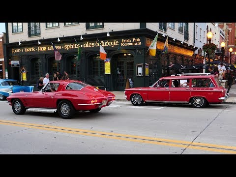 Downers Grove IL Classic Car Show Cruise Night Part 1