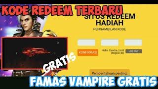 Kode Redeem Terbaru Free Fire Claim Famas Vampire-Garena Free Fire
