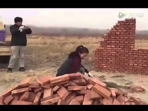 Вот как надо делать кладку кирпичей