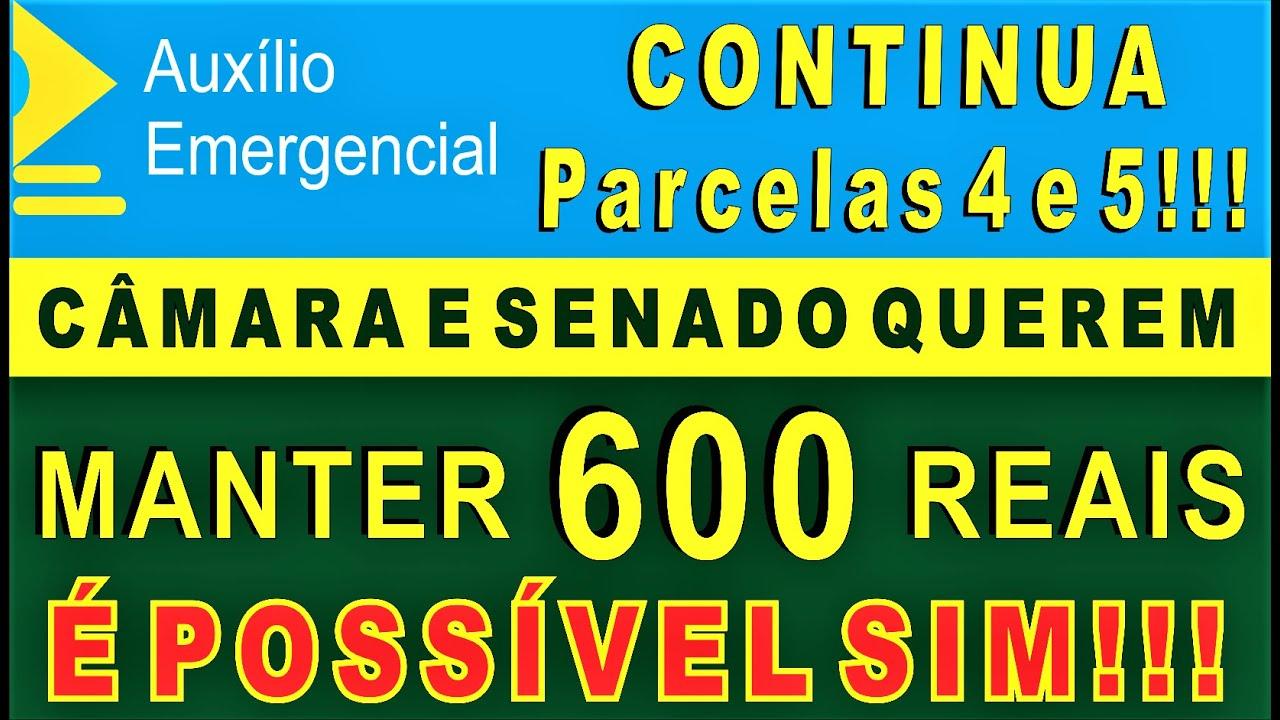 Auxílio Emergencial prorrogado parcelas 4 e 5 600 reais, É POSSÍVEL SIM!!!