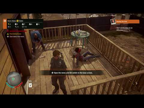 State of Decay 2 - Healing The Sick: Everette: Deposit Materials & Construct Infirmary XboxOn (2018)