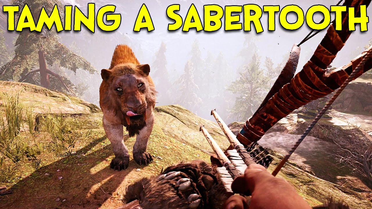 Taming A Sabertooth Far Cry Primal Youtube