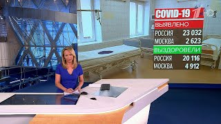 В России за сутки зарегистрировано 23 тысячи новых случаев коронавируса