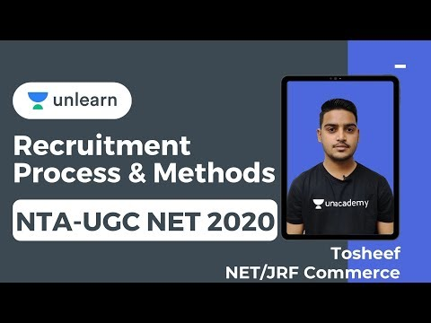 NTA UGC NET Commerce - Recruitment Process & Methods - Tosheef NET JRF Topper Commerce
