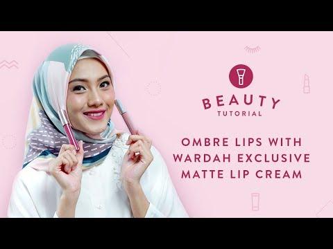 ombre-lips-with-wardah-exclusive-matte-lip-cream-|-tutorial