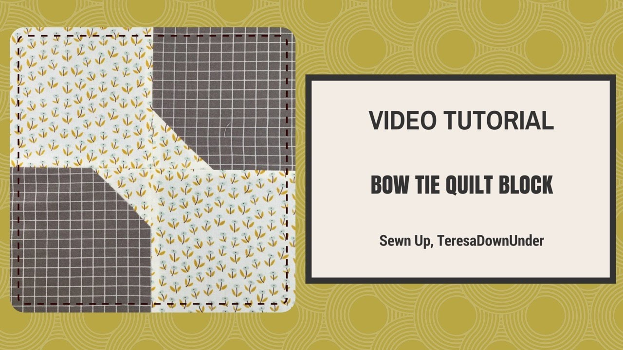 Necktie Quilt Patterns For Beginners : Quick and easy bow tie quilt block video tutorial - YouTube