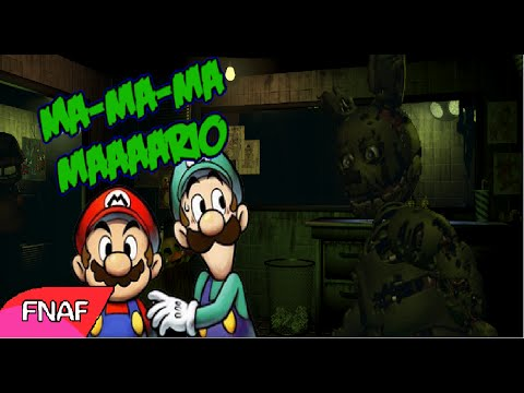 Mario y Luigi en Five Nights at Freddy's 3