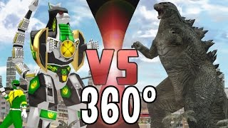 GODZILLA vs DRAGONZORD (Power Rangers) - 360° Video - DEATH BATTLE!