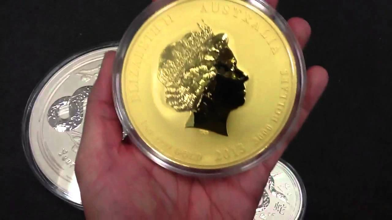 Perth Mint 10kg Silver And 1kg Gold Year Of The Snake