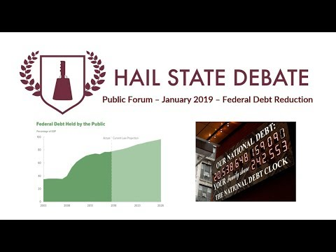 Public Forum - January 2019 - Federal Debt Reduction