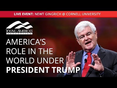Newt Gingrich LIVE at Cornell University